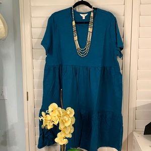 Cool, comfortable, cotton dress! Size 1X